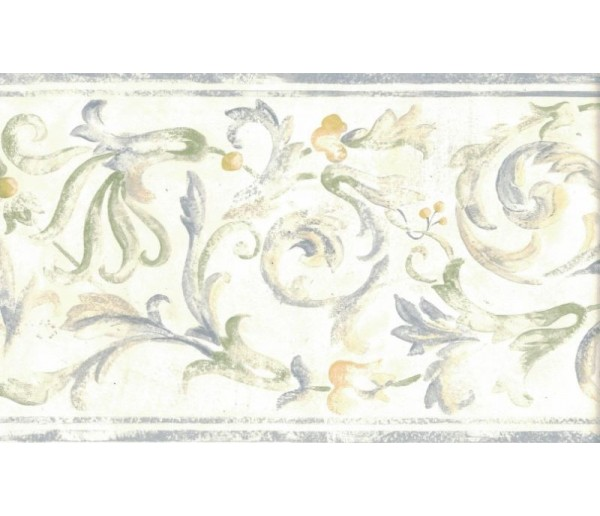 New  Arrivals Wall Borders: Floral Wallpaper Border 82B66121