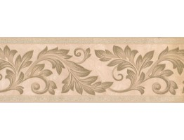 7 in x 15 ft Prepasted Wallpaper Borders - Leaves Wall Paper Border 92212