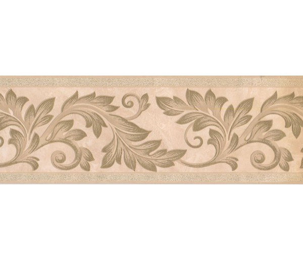 New  Arrivals Wall Borders: Leaves Wallpaper Border 92212