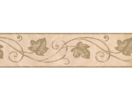 Prepasted Wallpaper Borders - Leaves Wall Paper Border 93382