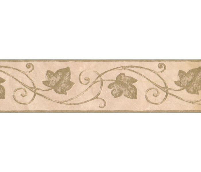 New  Arrivals Wall Borders: Leaves Wallpaper Border 93382