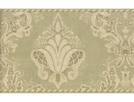 Prepasted Wallpaper Borders - Damask Wall Paper Border 95896