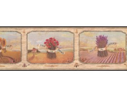 Prepasted Wallpaper Borders - Floral Wall Paper Border AAI08002BB