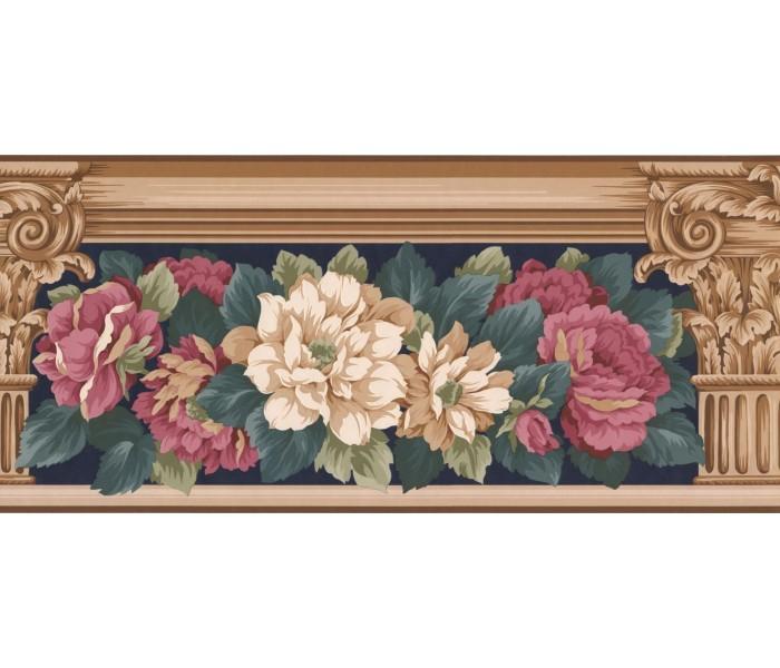 New  Arrivals Wall Borders: Floral Wallpaper Border AB521B