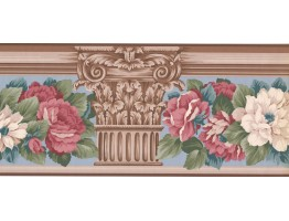 Prepasted Wallpaper Borders - Floral Wall Paper Border AB522B