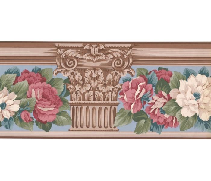 New  Arrivals Wall Borders: Floral Wallpaper Border AB522B