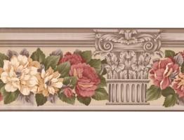 Floral Wallpaper Border AB523B