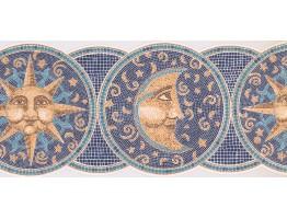 Sun, Moon and Star Wallpaper Border AG042193D