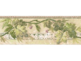 7 in x 15 ft Prepasted Wallpaper Borders - Leaves Wall Paper Border AR77969