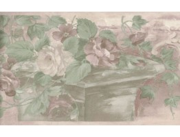 Prepasted Wallpaper Borders - Floral Wall Paper Border B61775