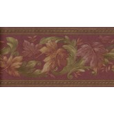 Prepasted Wallpaper Borders - Leaves Wall Paper Border B6623