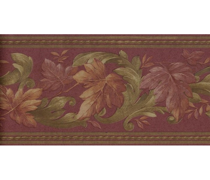 New  Arrivals Wall Borders: Leaves Wallpaper Border B6623