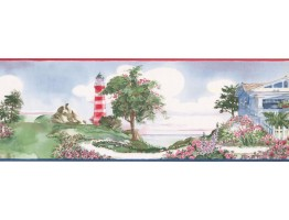 Prepasted Wallpaper Borders - Light House Wall Paper Border BB75981LL
