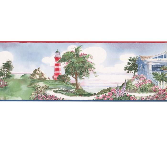 New  Arrivals Wall Borders: Light House Wallpaper Border BB75981LL