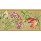 Prepasted Wallpaper Borders - Leaves Wall Paper Border BN1920B
