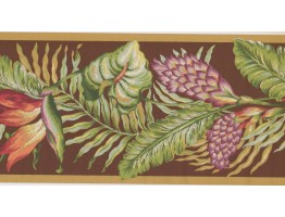 Prepasted Wallpaper Borders - Leaves Wall Paper Border BN1921B