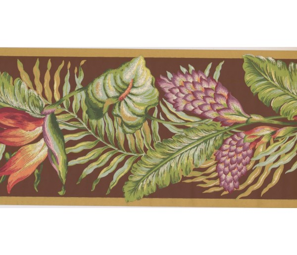New  Arrivals Wall Borders: Leaves Wallpaper Border BN1921B