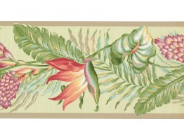 Prepasted Wallpaper Borders - Leaves Wall Paper Border BN1922B