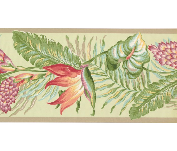 New  Arrivals Wall Borders: Leaves Wallpaper Border BN1922B
