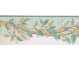 7 in x 15 ft Prepasted Wallpaper Borders - Leaves Wall Paper Border BN1968B