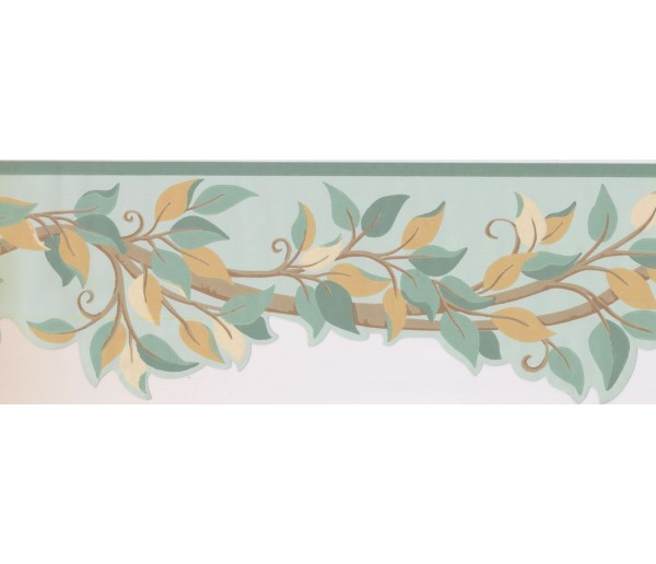 New  Arrivals Wall Borders: Leaves Wallpaper Border BN1968B