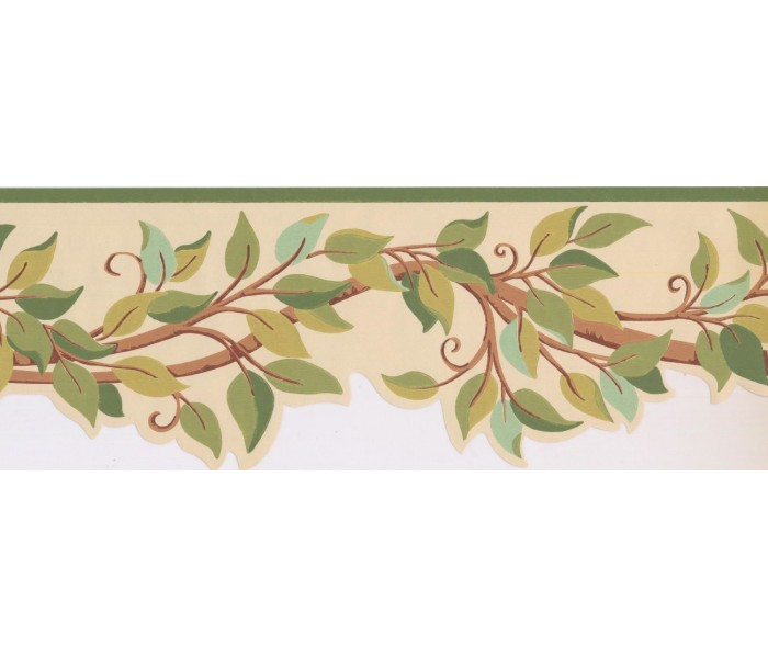 New  Arrivals Wall Borders: Leaves Wallpaper Border BN1969B