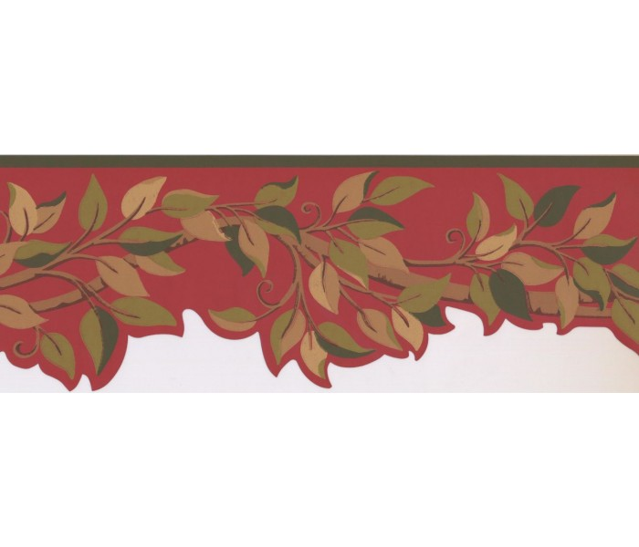 New  Arrivals Wall Borders: Leaves Wallpaper Border BN1970B
