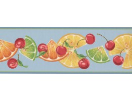Prepasted Wallpaper Borders - Fruits Wall Paper Border BN1996B