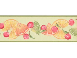 Prepasted Wallpaper Borders - Fruits Wall Paper Border BN1997B