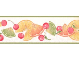 Prepasted Wallpaper Borders - Fruits Wall Paper Border BN1998B