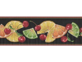 Prepasted Wallpaper Borders - Fruits Wall Paper Border BN1999B