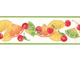 Prepasted Wallpaper Borders - Fruits Wall Paper Border BN2000B