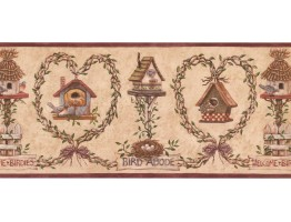 Birds House Wallpaper Border BP007125B