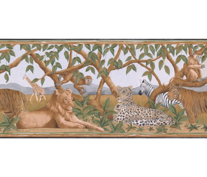 New  Arrivals Wall Borders: Jungle Animals Wallpaper Border BR14010B