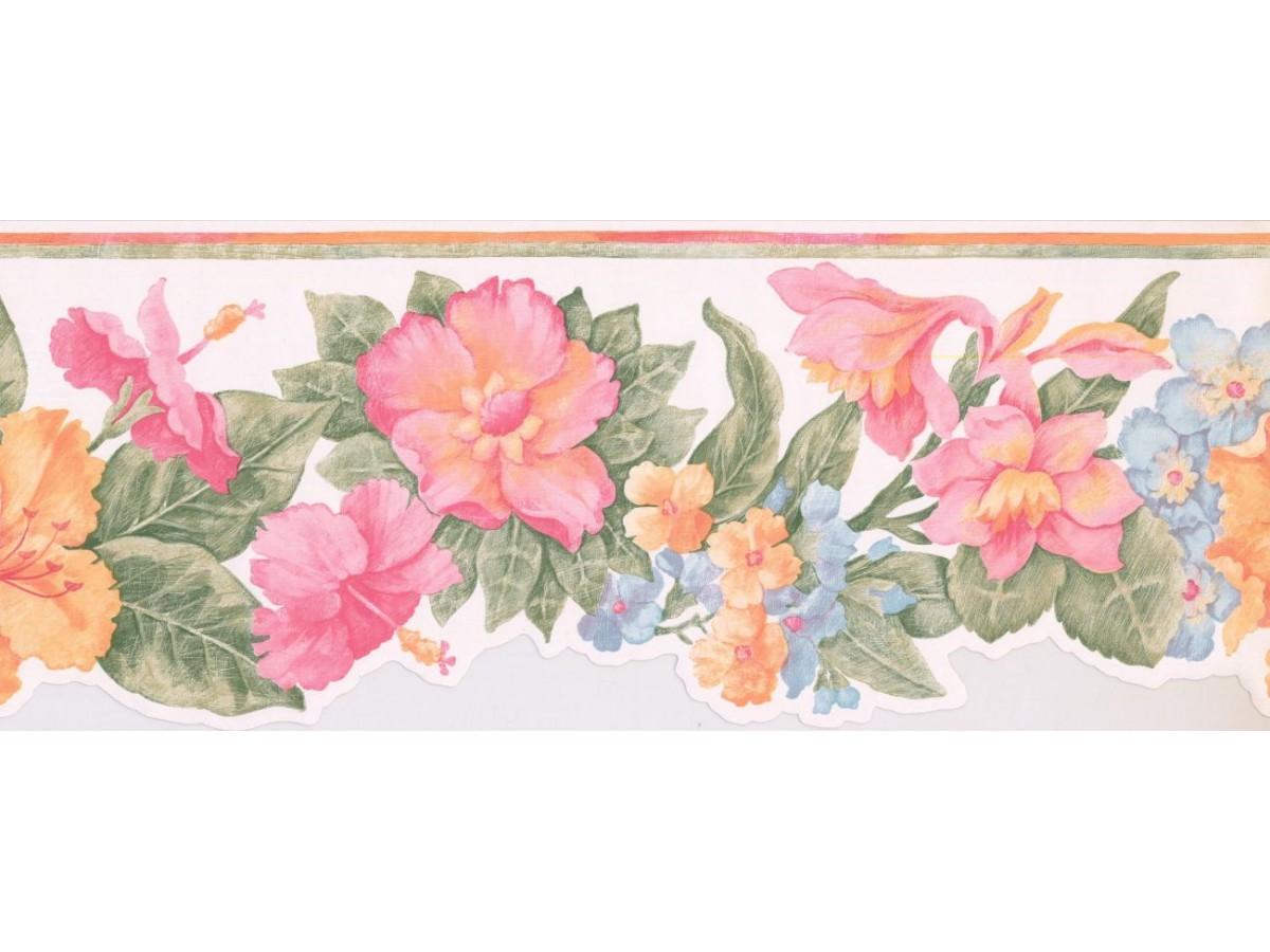 Floral Wallpaper Border Br14013db