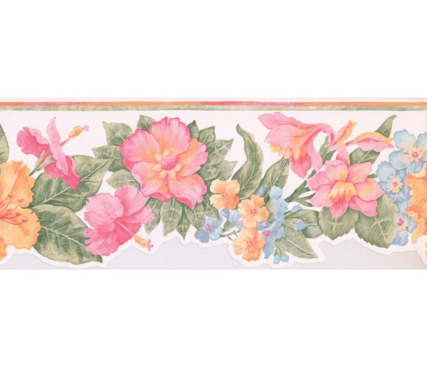 New  Arrivals Wall Borders: Floral Wallpaper Border BR14013DB
