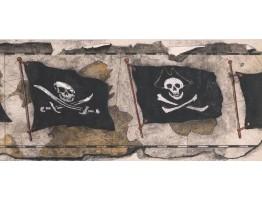 Danger Flag Wallpaper Border BT280B