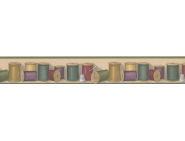 Prepasted Wallpaper Borders - Threads Wall Paper Border BT77702