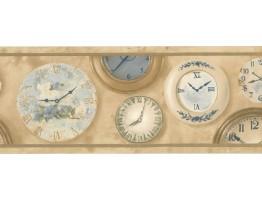 Clocks Wallpaper Border BW77444