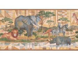 Jungle Animals Wallpaper Border CC804B