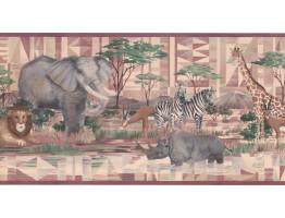 Jungle Animals Wallpaper Border CC806B