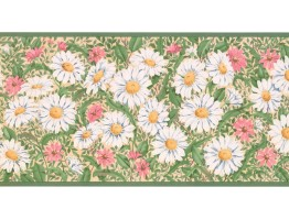 10 1/4 in x 15 ft Prepasted Wallpaper Borders - Floral Wall Paper Border CC824B