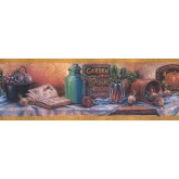 Prepasted Wallpaper Borders - Garden Wall Paper Border CF103300