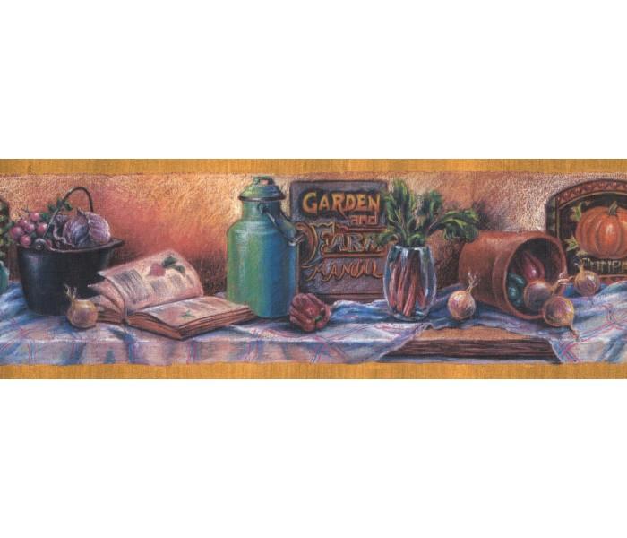 New  Arrivals Wall Borders: Garden Wallpaper Border CF103300