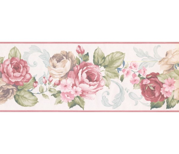 New  Arrivals Wall Borders: Floral Wallpaper Border CH77628