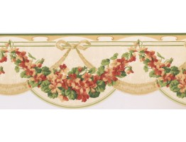 Prepasted Wallpaper Borders - Floral Wall Paper Border CH77642DC