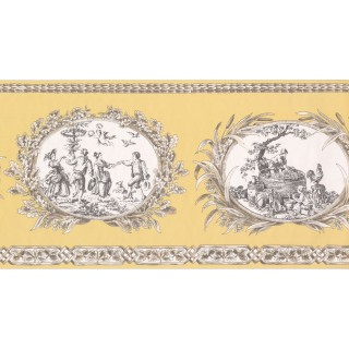 10 1/2 in x 15 ft Prepasted Wallpaper Borders - Country Wall Paper Border CH77650