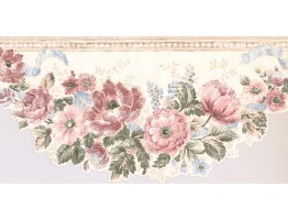 Prepasted Wallpaper Borders - Floral Wall Paper Border CI1355B