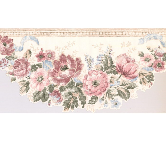 New  Arrivals Wall Borders: Floral Wallpaper Border CI1355B