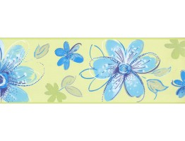 Prepasted Wallpaper Borders - Floral Wall Paper Border CK7704B